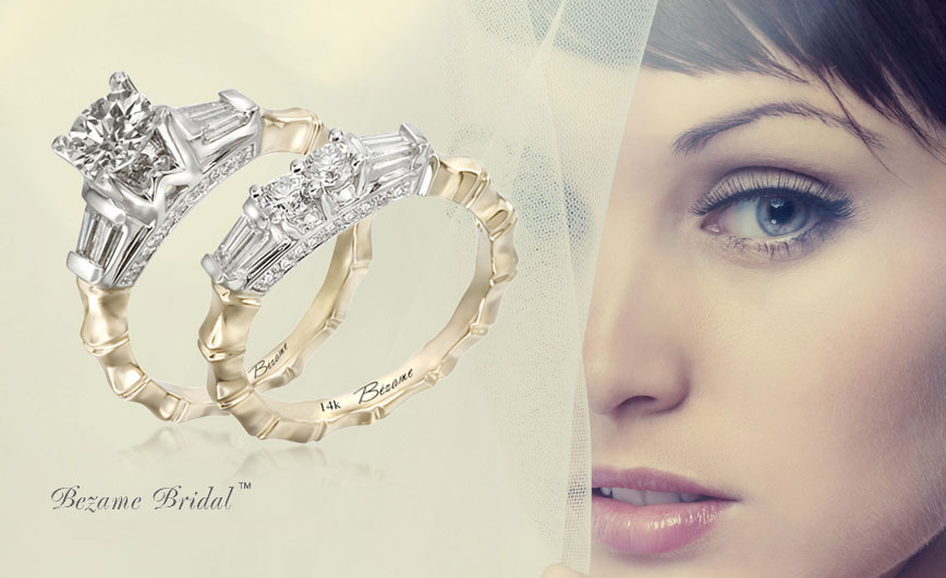 Bezame bridal engagement rings available at H. Brandt Jewelers of Natick, MA