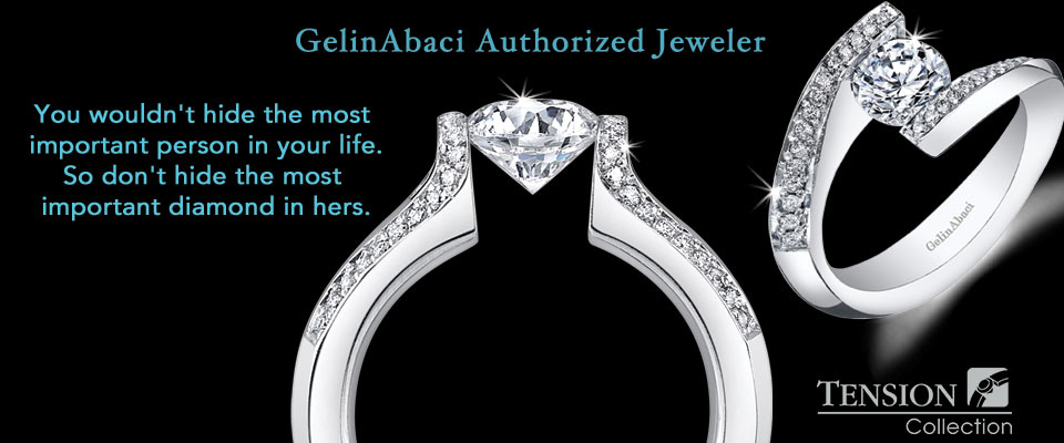 GelinAbaci Tension Collection available at H. Brandt Jewelers in Natick, MA -